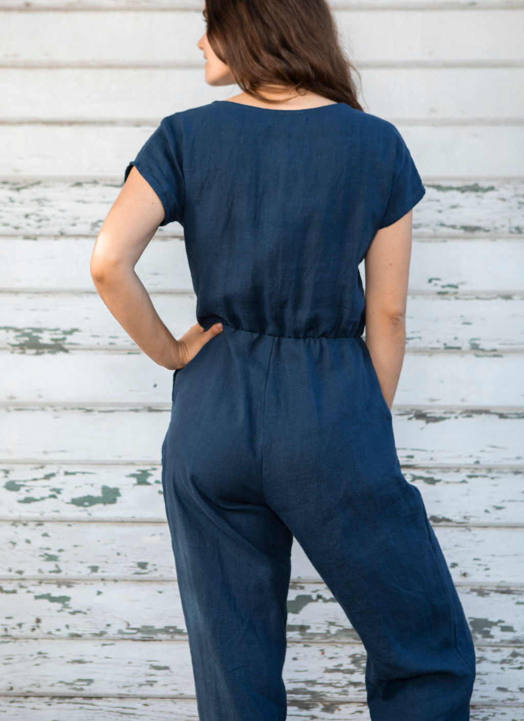 Riva Navy Jumpsuit