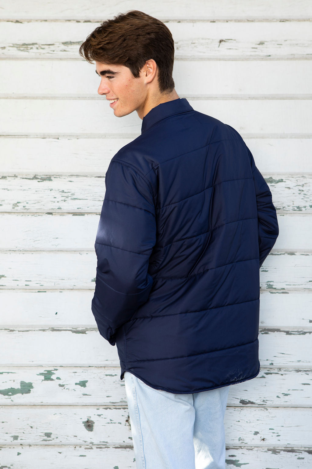 Men's Quilted Jacket - Navy