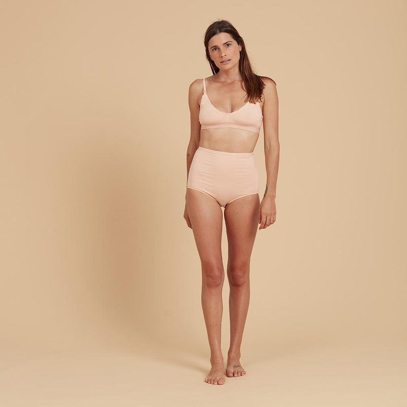 ORGANIC COTTON KNICKERS HIGH WAIST FULL BRIEF in Blossom
