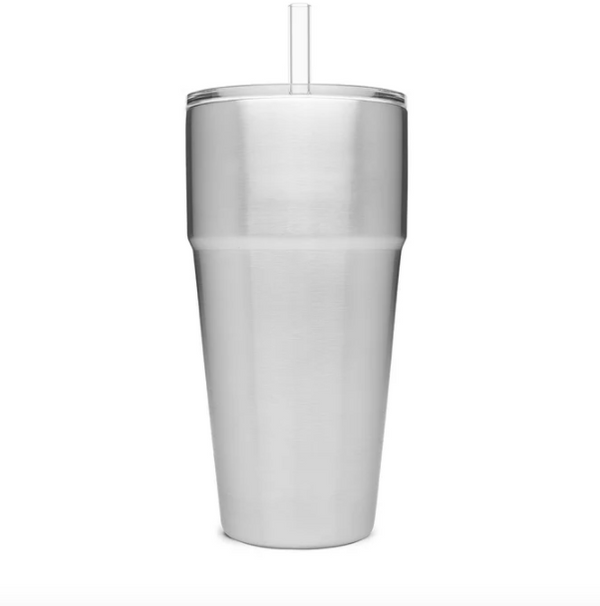 RAMBLER 26 OZ STACKABLE CUP WITH STRAW LID