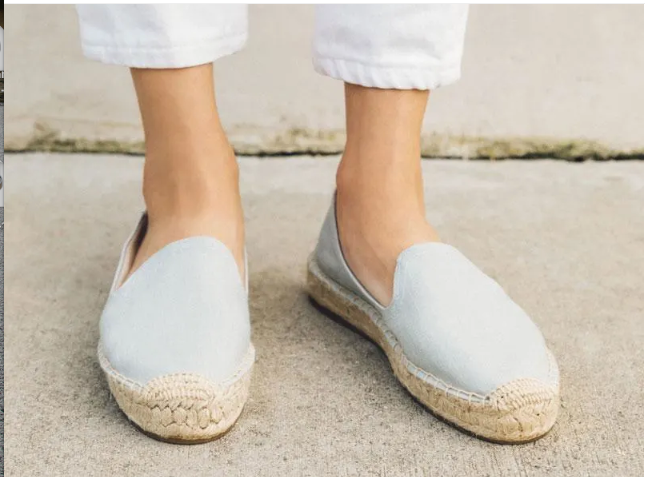 Chambray Platform Smoking Slipper