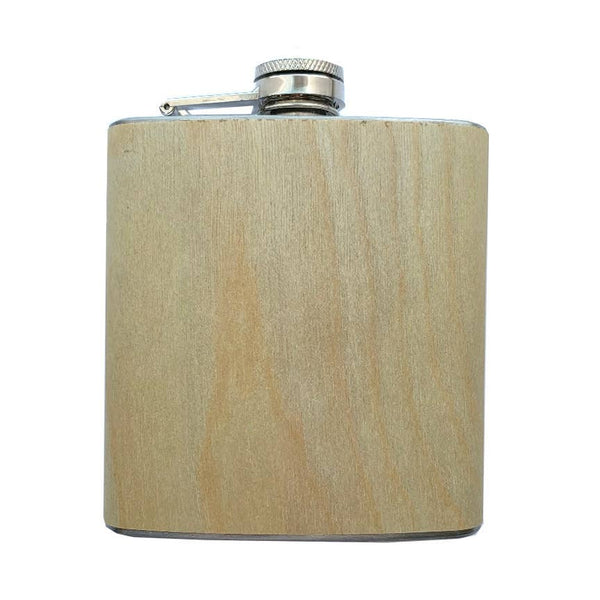 Birch Wood Wrapped Flask
