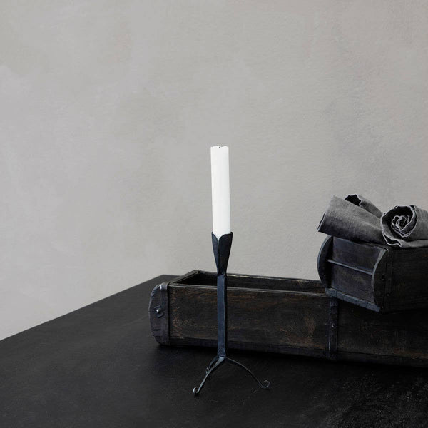 Matte Black Farm Candle Stand
