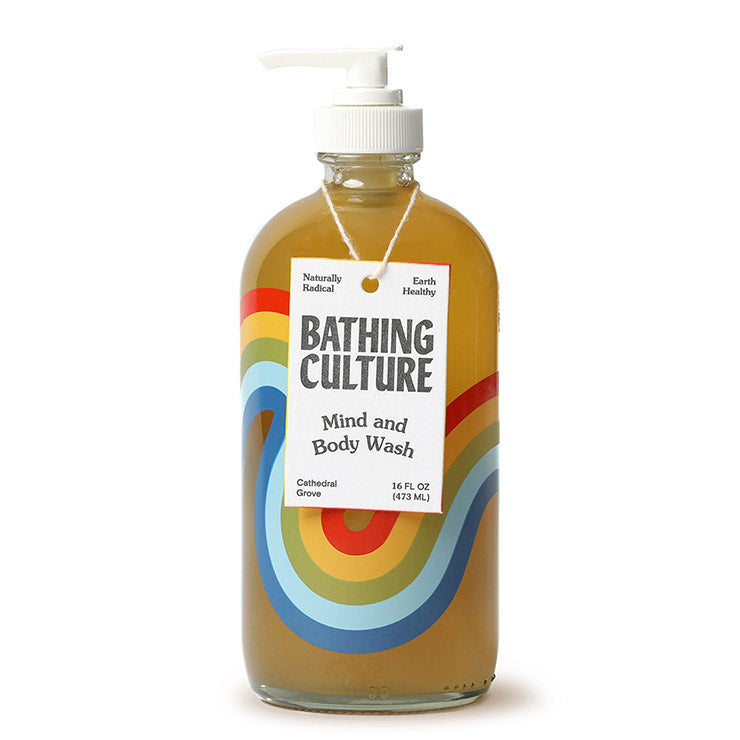 Refillable Rainbow Glass Mind and Body Wash 16oz