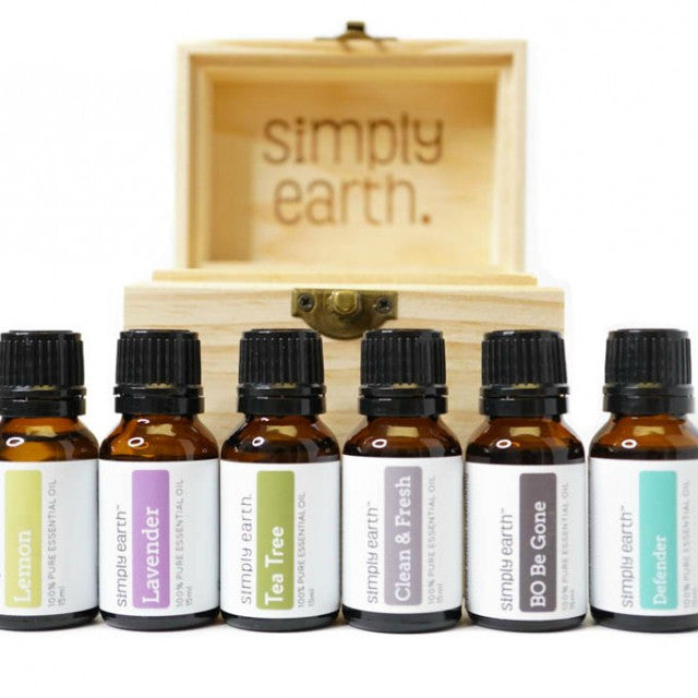 Boxed Set of 6 Essential Oils