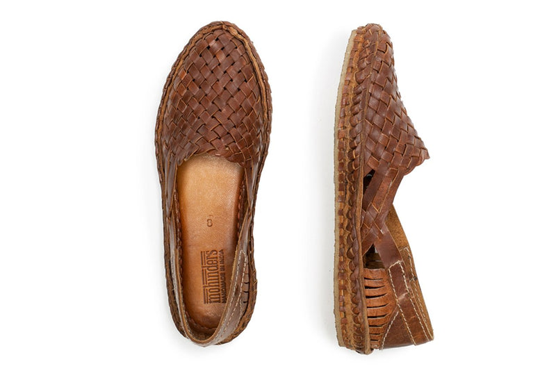 Women's Woven Flat / Oiled Leather