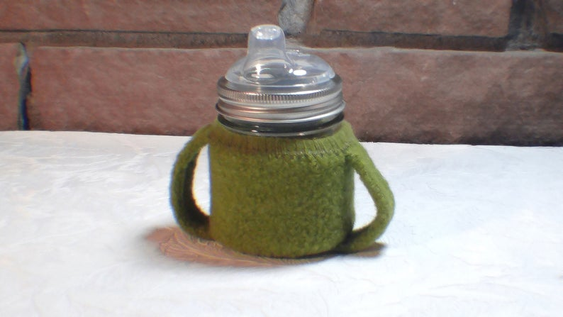 Square Canning Jar Sippy Cup - 8oz