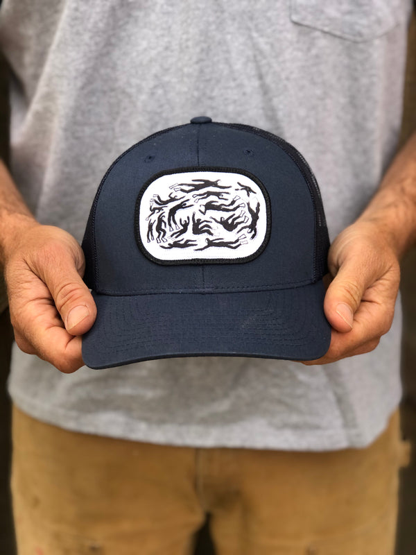 Torpedo People Navy Trucker Hat