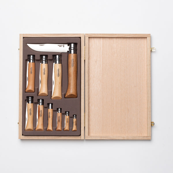 Opinel Beechwood Stainless Steel Collector Set