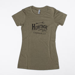 HG&S Women's Tee in Military Green