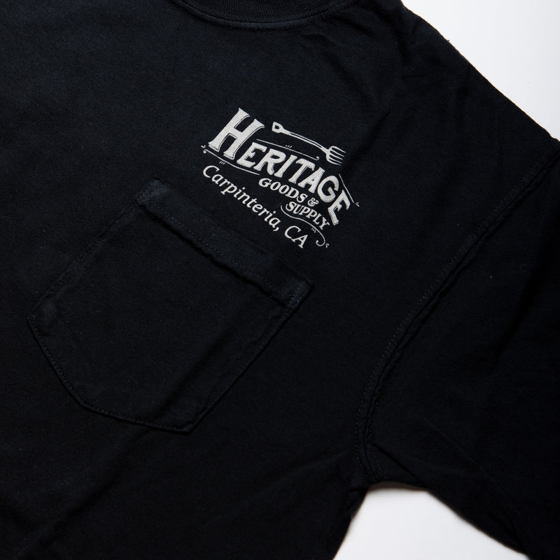 HG&S Men's Black Pocket Tee