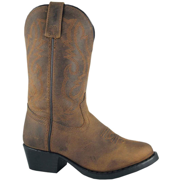 Kid's Denver Oiled Distress Brown Boots