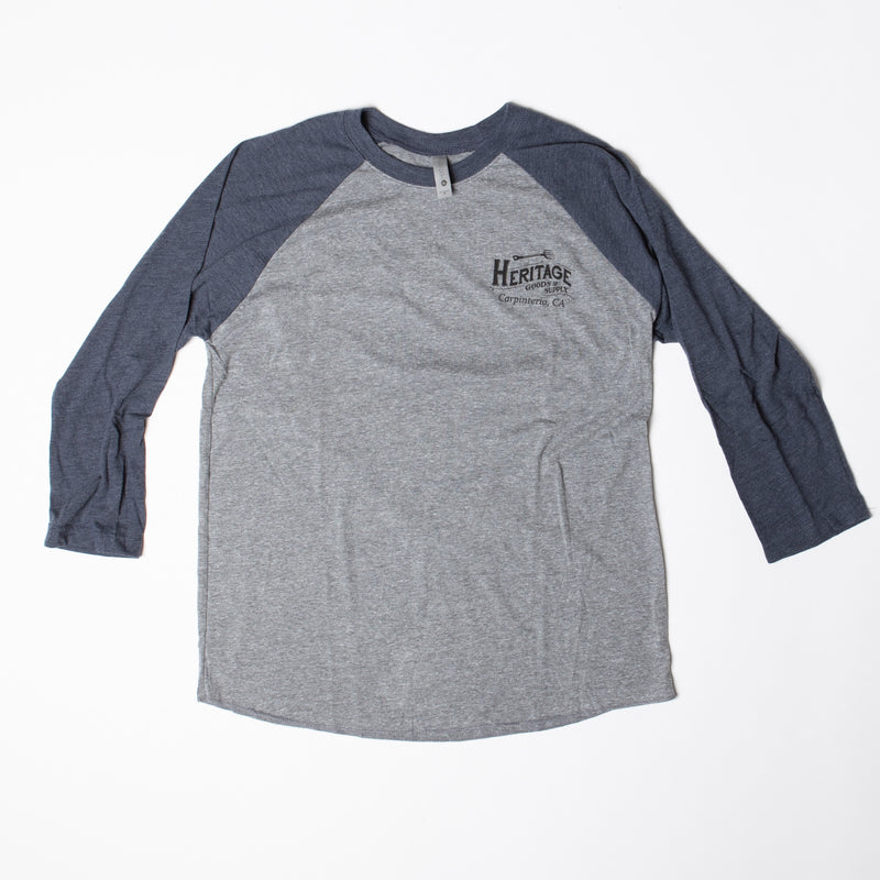 HG&S Unisex Baseball Tee in Navy