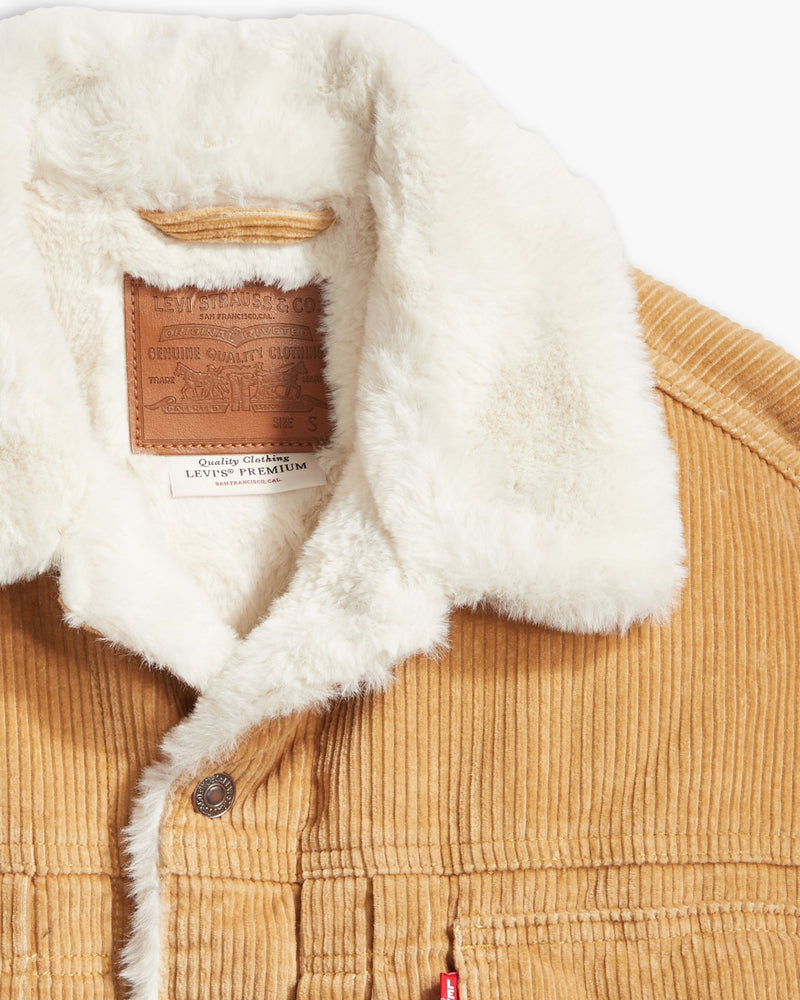 LEVI'S HERITAGE CORD TRUCKER JACKET IN ICED COFFEE