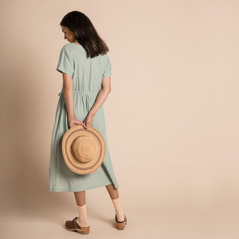 Tansy Dress in Azure Harlequin