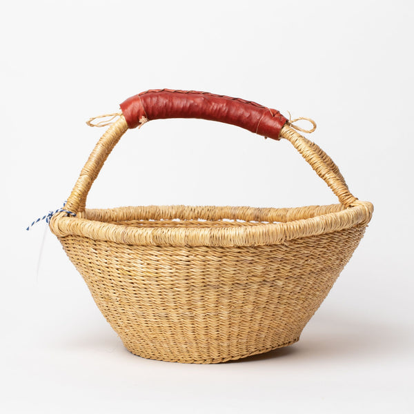 Fruit Basket with leather handles