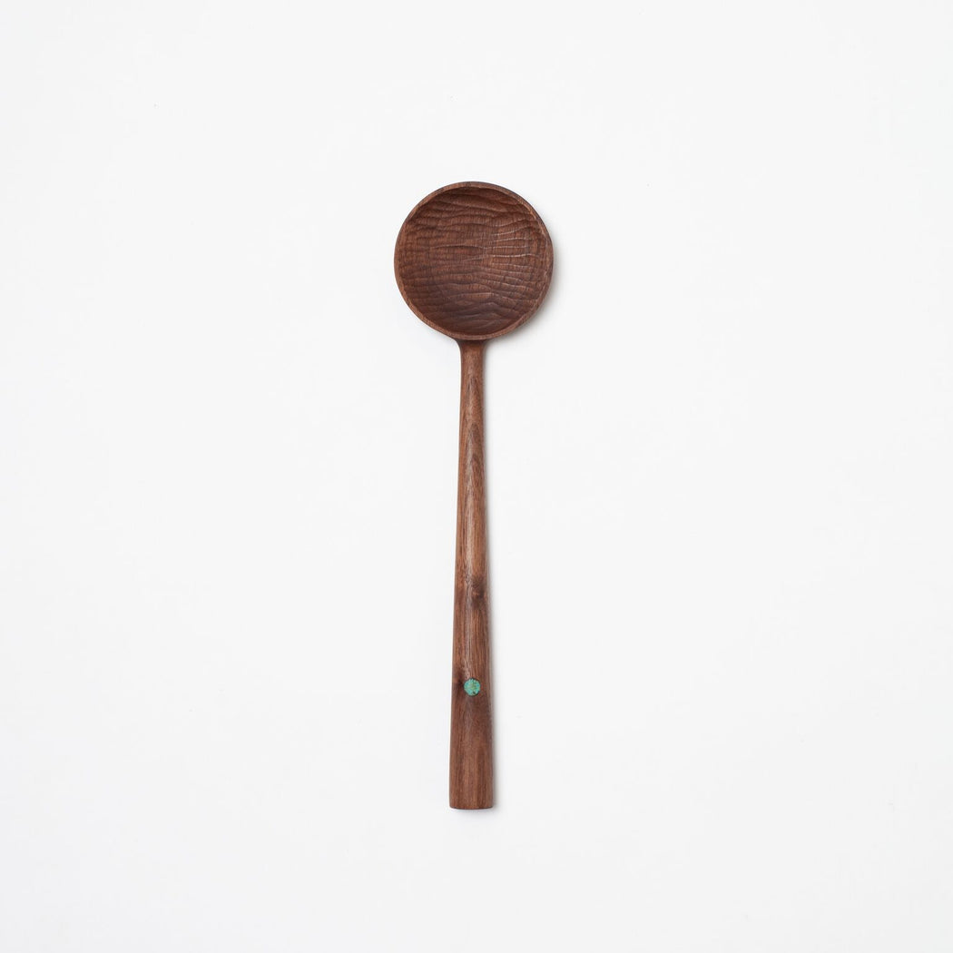Cherry & Turquoise Wooden Spoon