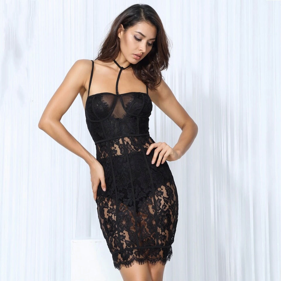 Eliza Lace Bodycon Dress