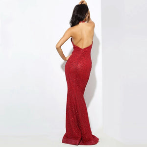London Backless Sequin Dress