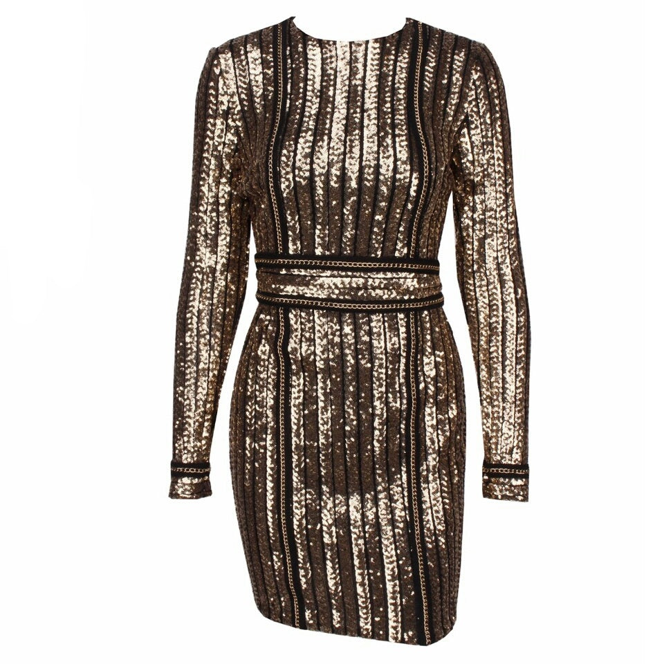 Gold Digger Sequin Dress