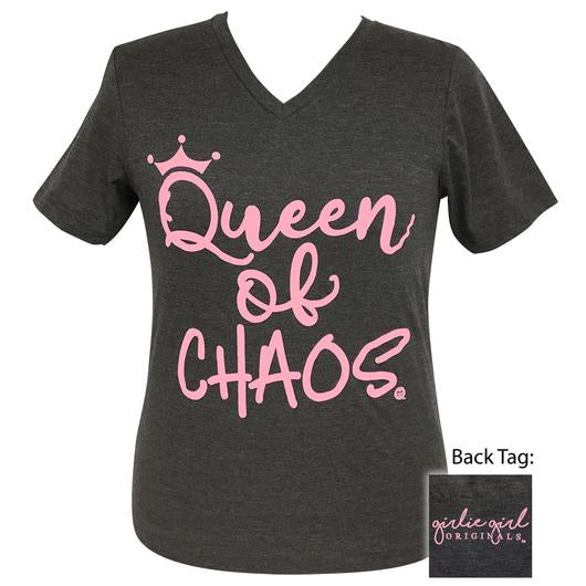 Girlie Girl Queen of Chaos Tee