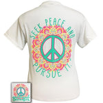 Girlie Girl Seek Peace Tee
