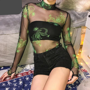 Transparent Sexy Mesh Bodysuit New Arrival 2019