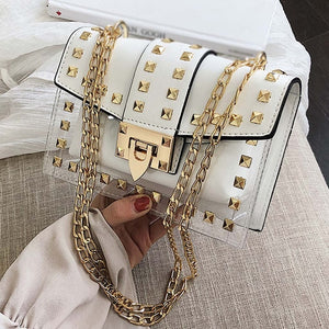 Small clear Designer Shoulder Bag