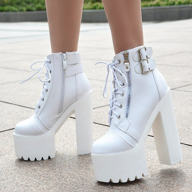 Super high heel waterproof platform