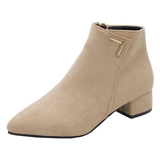 Women Boots Casual Leather