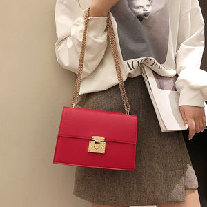 Small Bag Leather Chain Handbags Crossbody