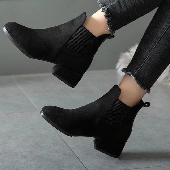 Chelsea Faux Suede Ankle Boots