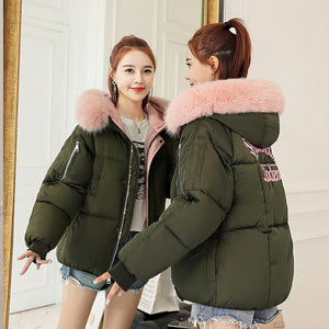Faux Fur Hooded Puffer Jacket