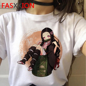 kimetsu no yaiba demon slayer t shirt women graphic top tees Japanese anime tshirt  harajuku kawaii streetwear punk t-shirt