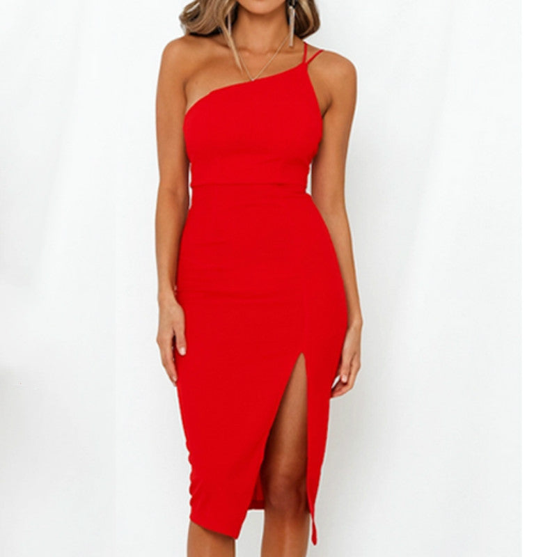 Lana One Shoulder Midi Dress