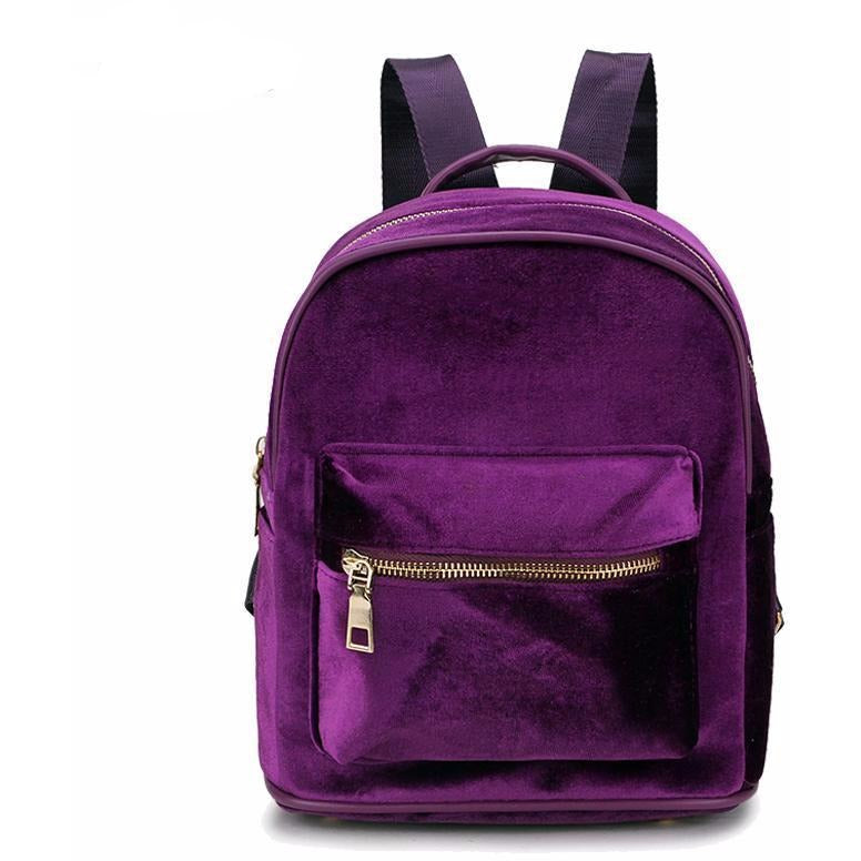 Kitty Velvet Backpack