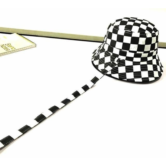 Checkered Print Bucket Hat