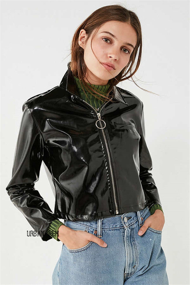 Dion Patent Leather Jacket