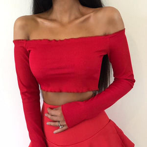 Novi Off Shoulder Crop Top