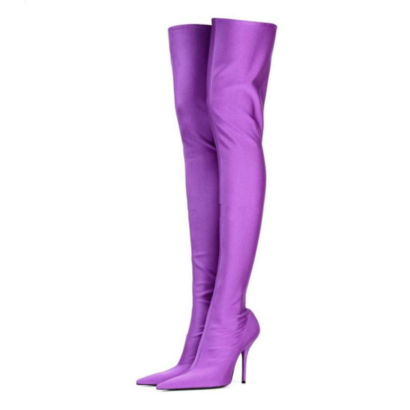 Over the Knee Stiletto Boots in 5 Variants