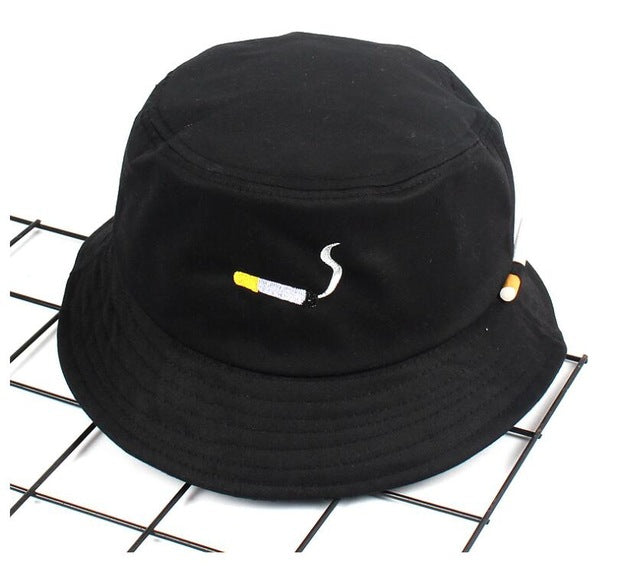 NO CHILL cigarette embroidery bucket hat for men women hip hop fisherman hat Adult panama bob hat summer lovers flat hat