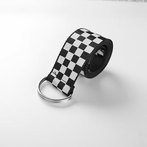 Checkered Print Belt