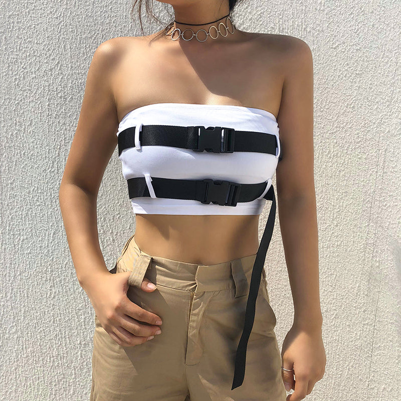 Adjustable Buckled Top