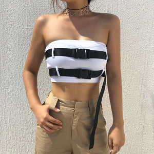 Buckle Up Strapless Top