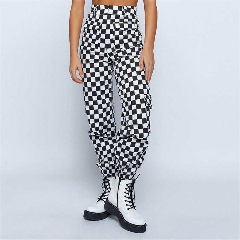 Checkerboard Cargo Pants
