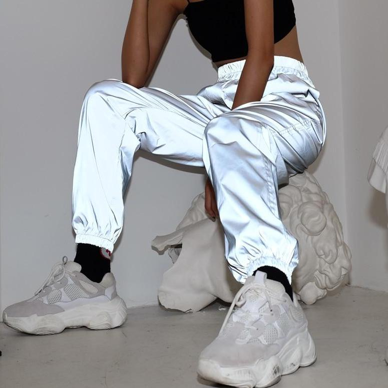 Reflective High Waist Sweatpants