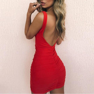 Backless Mini Bodycon Dress