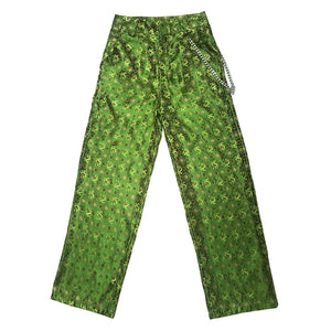 Emerald Chinese Pants with Chain