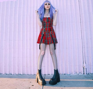 Elvira Plaid Mini Dress