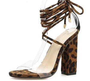Leopard Print Ankle Sandals